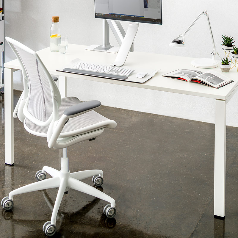 Humanscale Diffrient World Office Chair, White Computer Chairs Uk